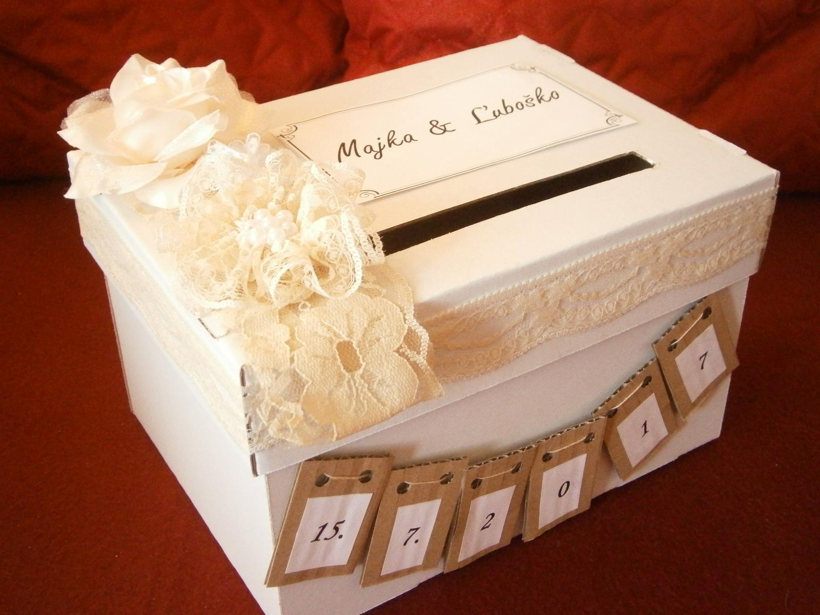 Wedding box / pokladnička  - Obrázok č. 1