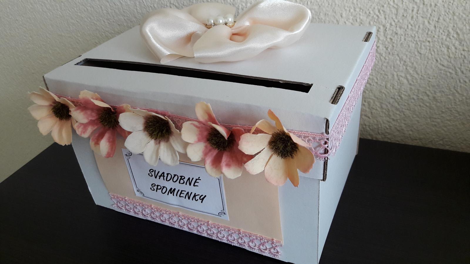 Wedding box / pokladnička s kvietkami - Obrázok č. 1