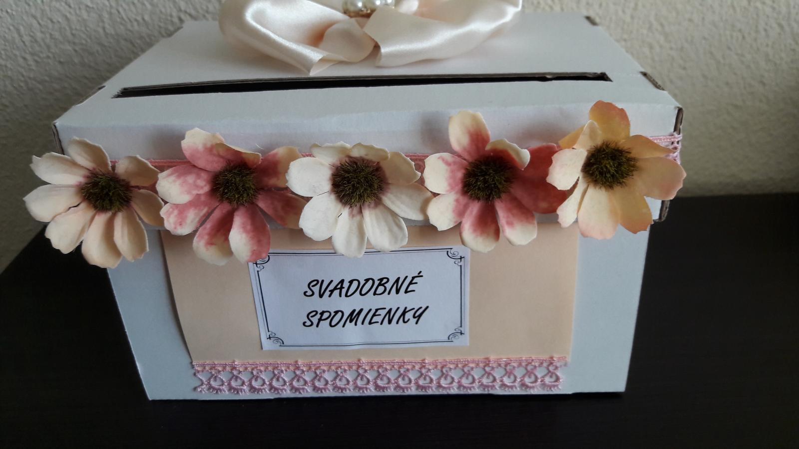 Wedding box / pokladnička s kvietkami - Obrázok č. 2