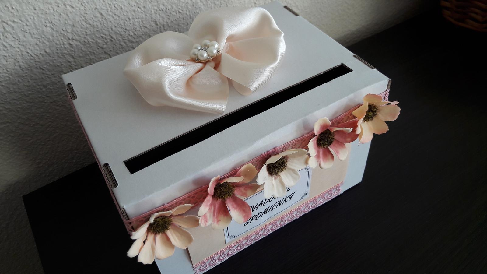 Wedding box / pokladnička s kvietkami - Obrázok č. 3