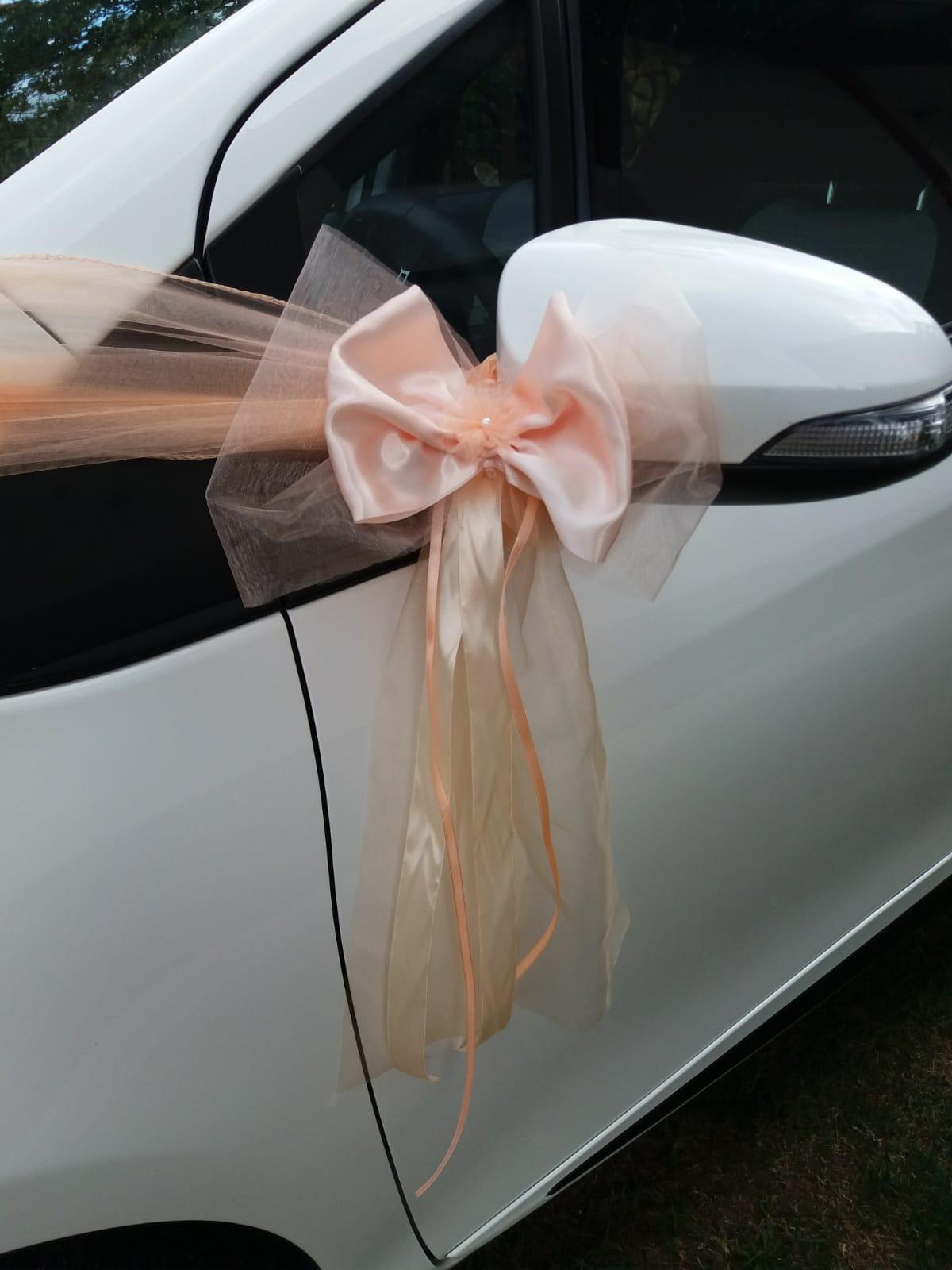 Výzdoba na auto - mašľa marhuľka - Obrázok č. 2