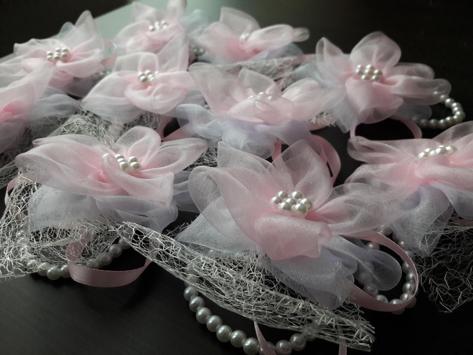 Náramky - romantické ružové - Obrázok č. 1