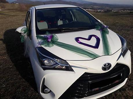 Svadobné auto - fialová so zelenou - Obrázok č. 1