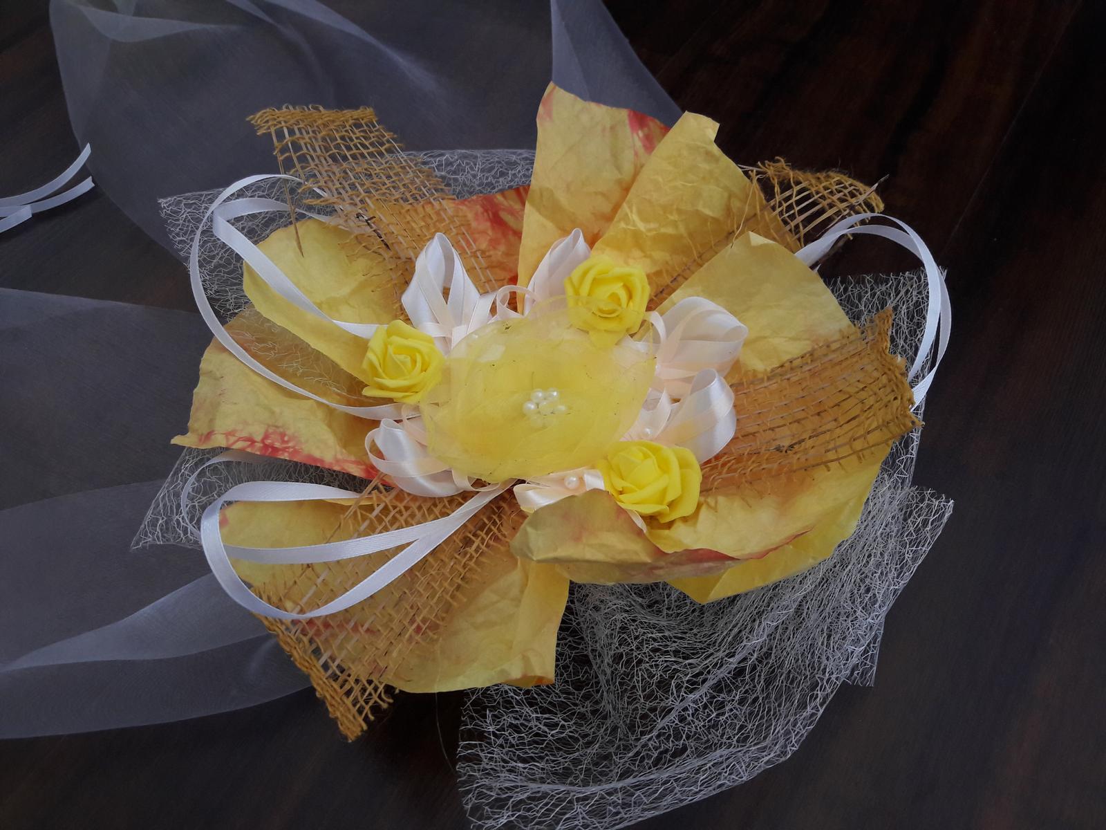 Svadobná výzdoba na auto - yellow - Obrázok č. 3
