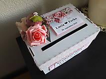 Pokladnička - box na svadbu / vykrúcanku /redový  - Obrázok č. 1