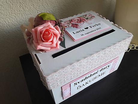 Pokladnička - box na svadbu / vykrúcanku /redový  - Obrázok č. 2