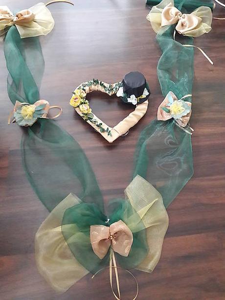 Na ženíchove auto - smaragdová + gold - Obrázok č. 2