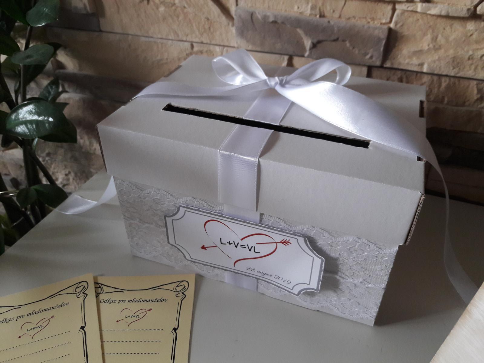 Box s kartičkami na odkazy mladomanželom - Obrázok č. 2