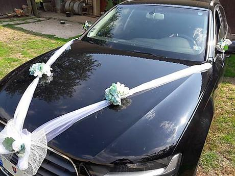 AKCIA Greenery a hortenzie na svadobné auto  - Obrázok č. 1
