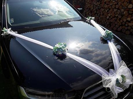 AKCIA Greenery a hortenzie na svadobné auto  - Obrázok č. 2