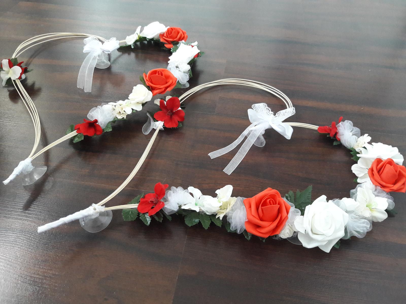 Veľké srdce na svadobné auto - červená - Obrázok č. 1