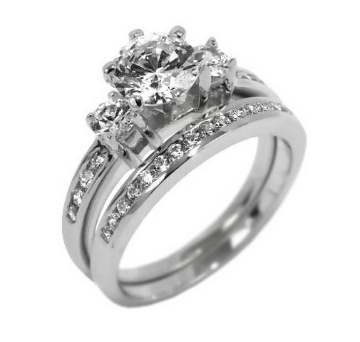 stříbrné zásnubní prsteny dvojitý luxusní stříbrný prsten se