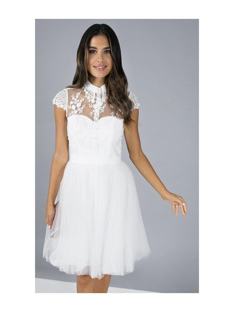 Krajkové šaty s tylovou sukní - Obrázek č. 1