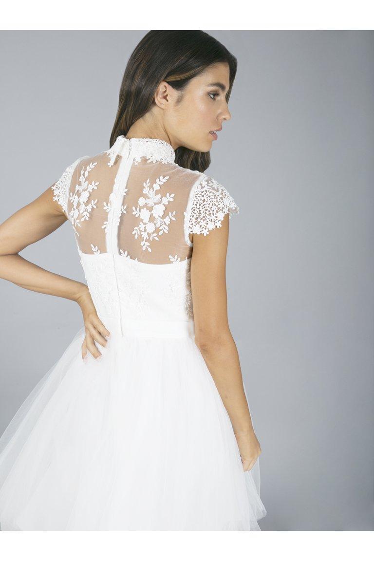 Krajkové šaty s tylovou sukní - Obrázek č. 3
