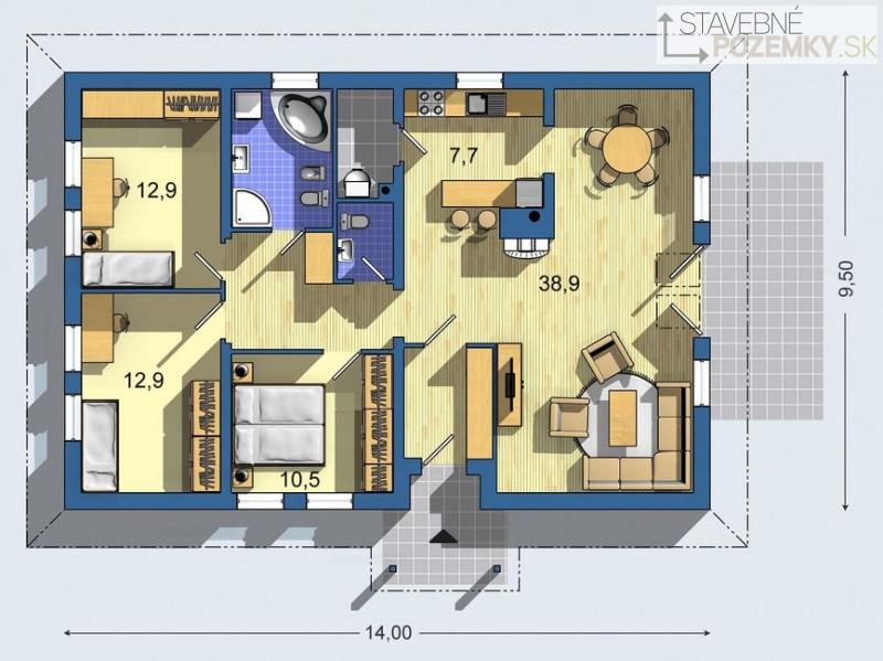 Izby s rovnakou orientaciou... - Obrázok č. 1