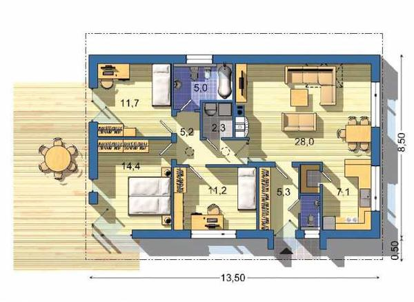 Izby s rovnakou orientaciou... - Obrázok č. 2