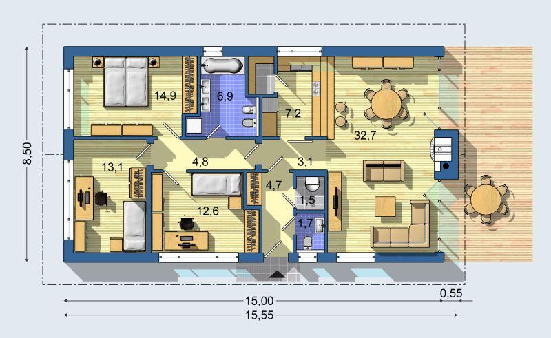 Izby s rovnakou orientaciou... - Obrázok č. 3