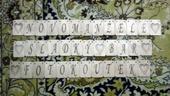 Dřevěná gravírovaná písmena vhodná ke Girlandě,