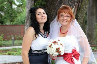 S mou svědkyní sestřičkou Renátkou :-*