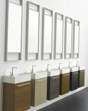 vybrane umyvadlo na wc v prizemi - barva tmavy orech
