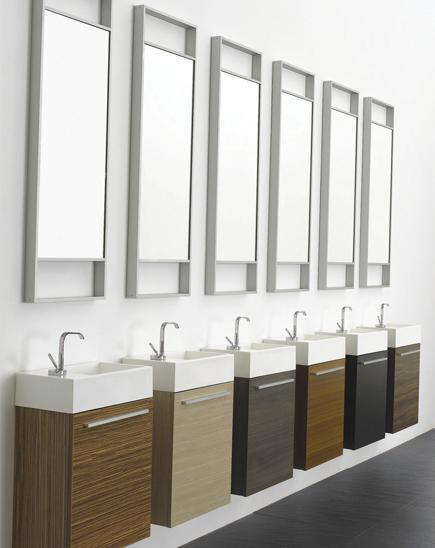 Inspirace - vybrane umyvadlo na wc v prizemi - barva tmavy orech