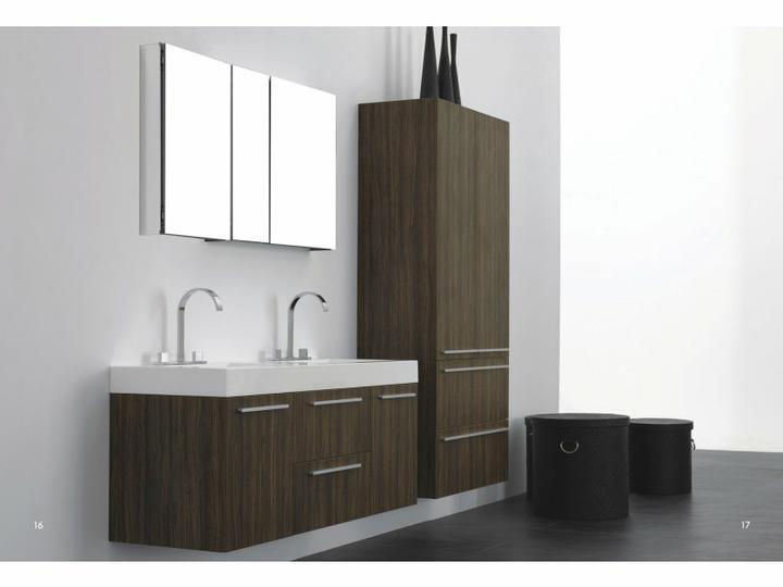 Inspirace - Vybrali jsme tohle dvojumyvadlo do koupelny - barva tmavy orech a k tomu toto zrcadlo s uloznym prostorem