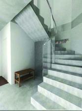 Pohled na schody a luxfery.
