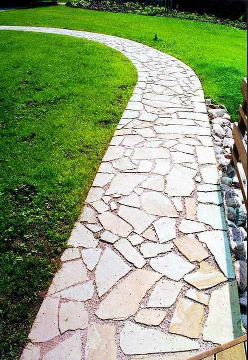 Naše plány se zahradou - Kamen na cesticky.