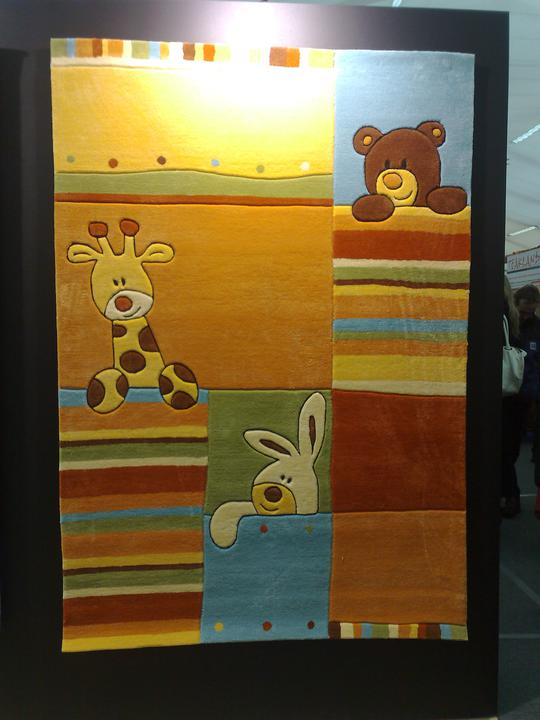 Inspirace z výstavy - Koberec z předchozího obrázku přímo na výstavě.