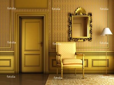 Zlatá v interiéru - Zlatá všude, kam se podíváš...