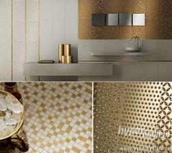 Zlaté prvky do koupelny.