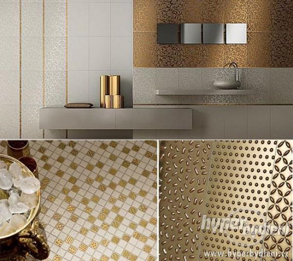 Zlatá v interiéru - Zlaté prvky do koupelny.