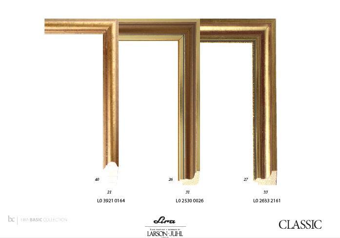 Zlatá v interiéru - Moderní verze zlatého rámu.