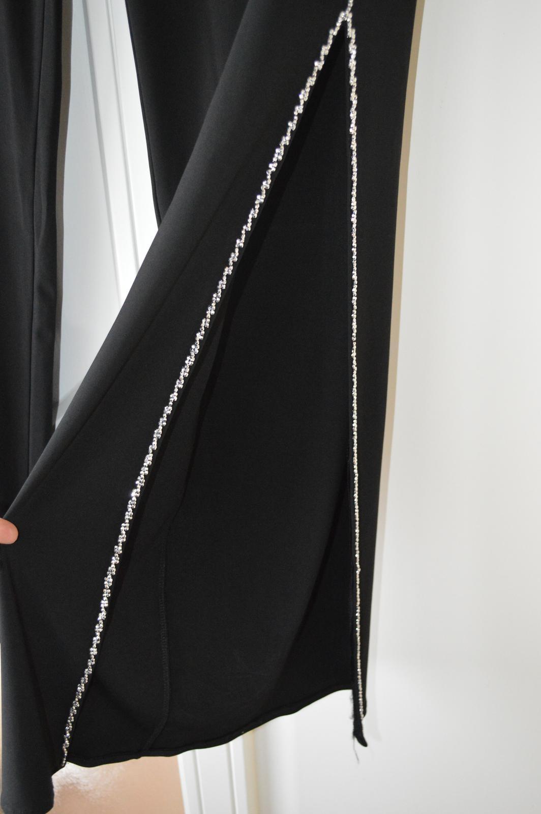 nohavicové spoločenské šaty - Obrázok č. 3