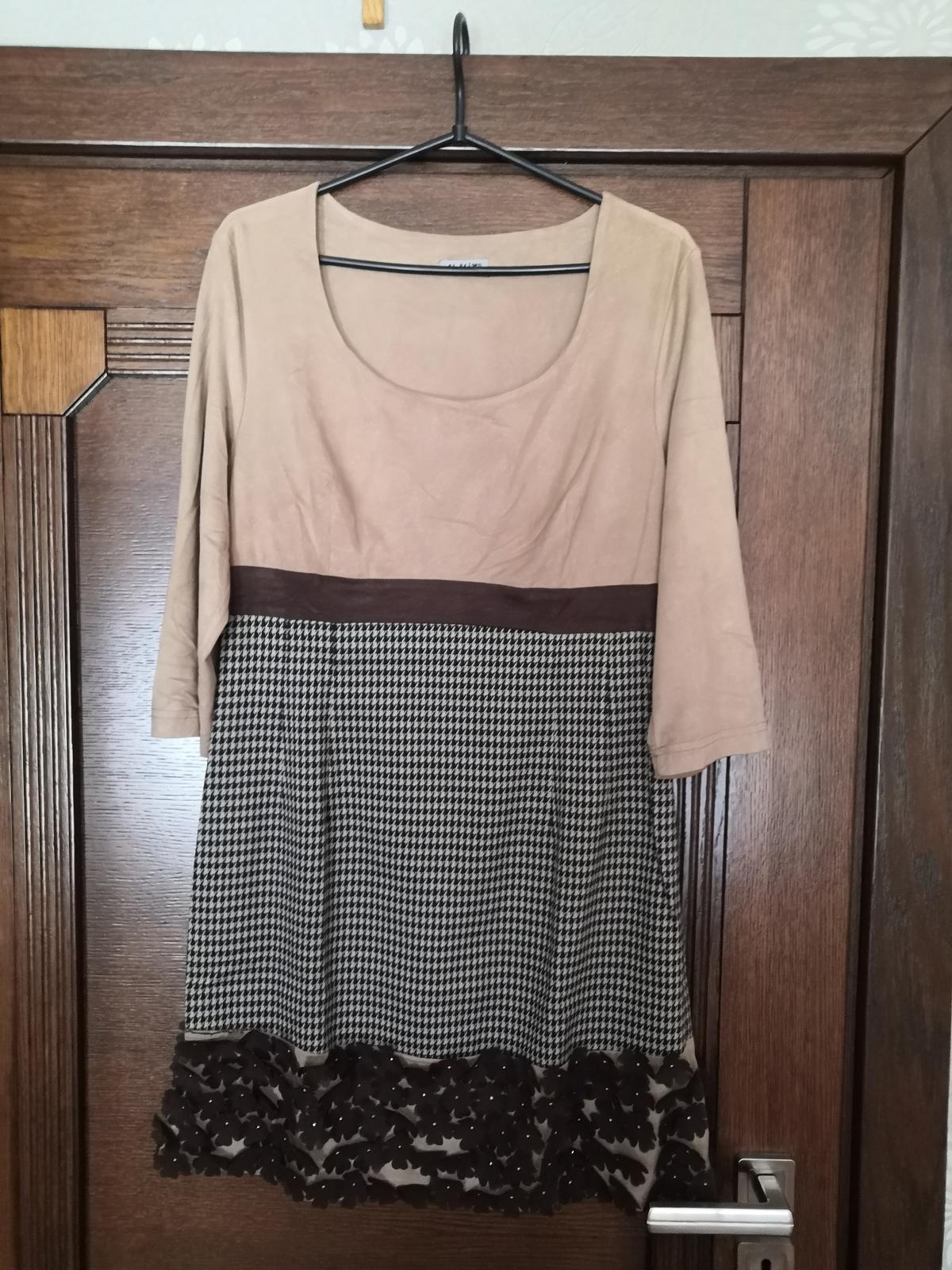 Krátke zaujímavo zdobené šaty/tunika - Obrázok č. 1