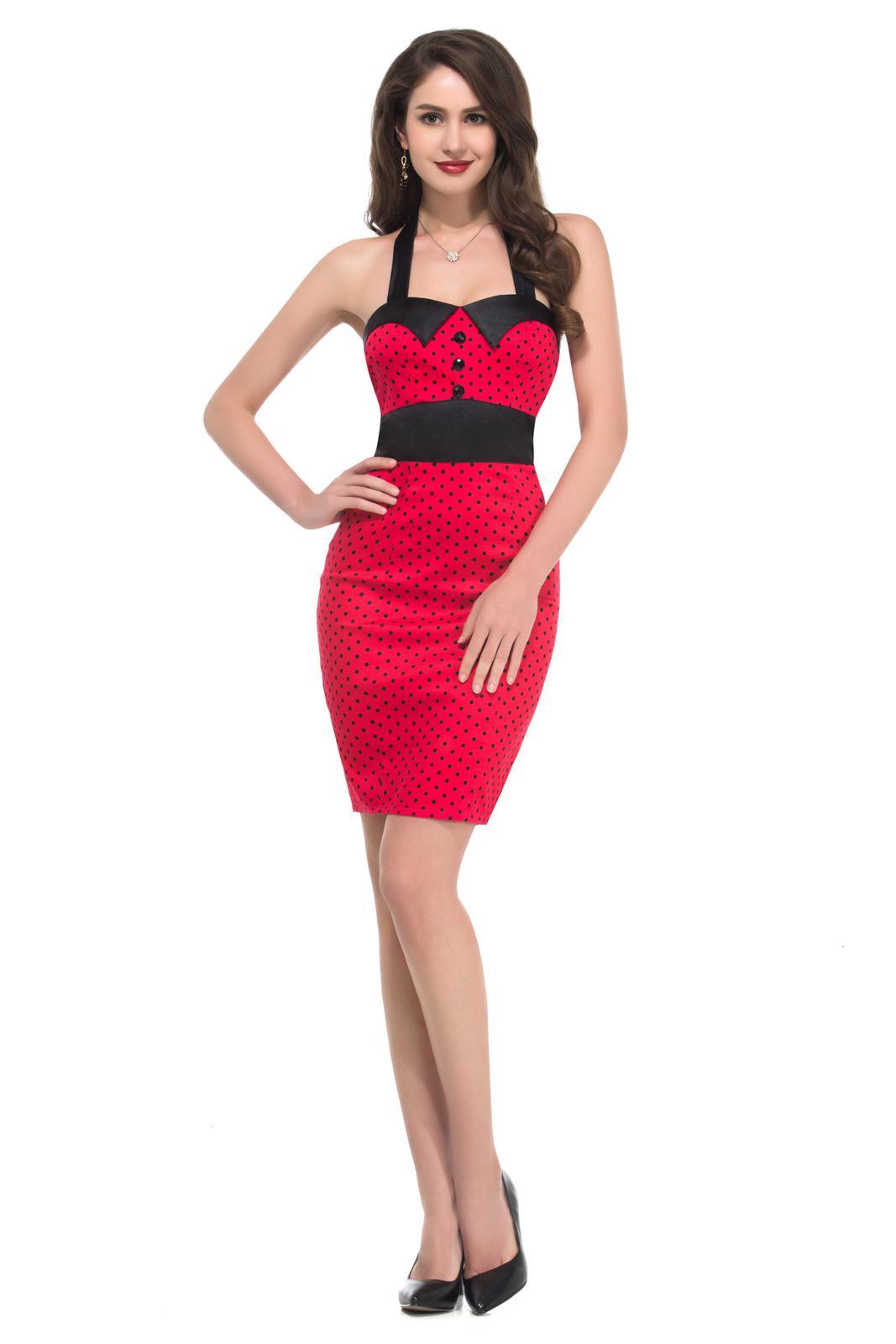 Retro šaty - Úzke červené šaty z 50. rokov SKLADOM: http://salonevamaria.sk/index.php?id_category=27&controller=category NA OBJEDNÁVKU: http://salonevamaria.sk/index.php?id_category=10&controller=category