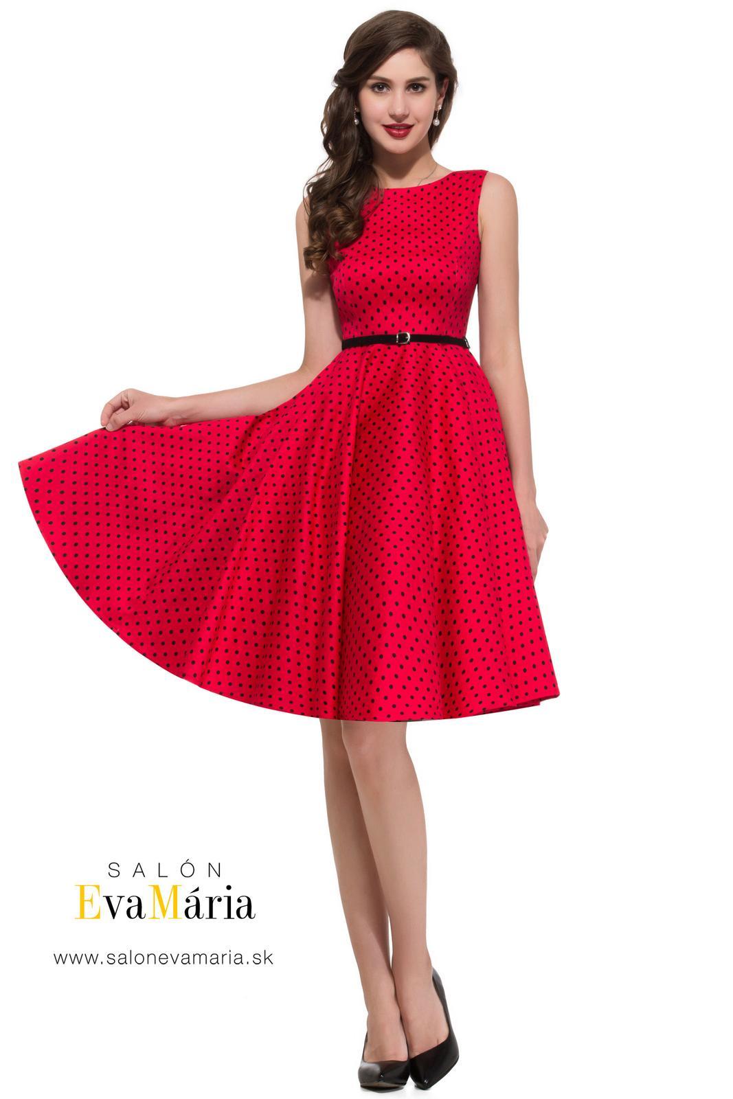 Retro šaty - Prekrásne červené retro šaty SKLADOM: http://salonevamaria.sk/index.php?id_category=27&controller=category NA OBJEDNÁVKU: http://salonevamaria.sk/index.php?id_category=10&controller=category
