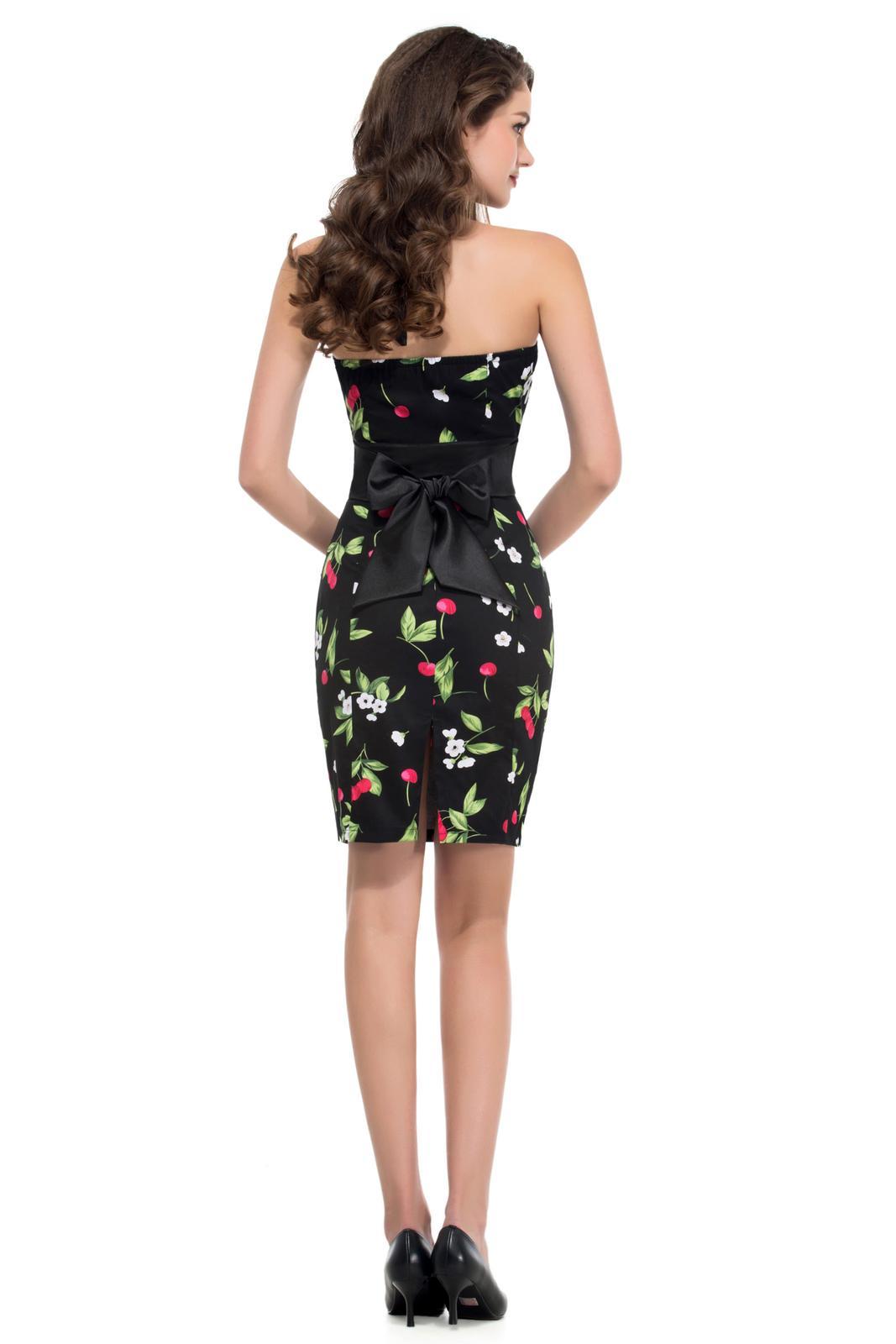 Retro šaty - Úzke čierne retro šaty s čerešničkami - 50. roky SKLADOM: http://salonevamaria.sk/index.php?id_category=27&controller=category NA OBJEDNÁVKU: http://salonevamaria.sk/index.php?id_category=10&controller=category