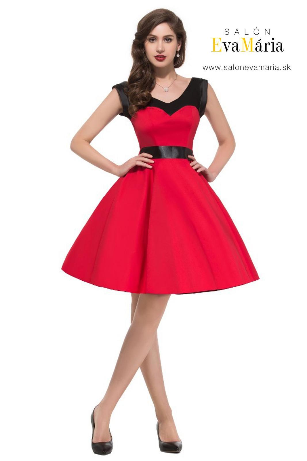 Retro šaty - Jedinečné červené retro šaty - 50. roky SKLADOM: http://salonevamaria.sk/index.php?id_category=27&controller=category NA OBJEDNÁVKU: http://salonevamaria.sk/index.php?id_category=10&controller=category