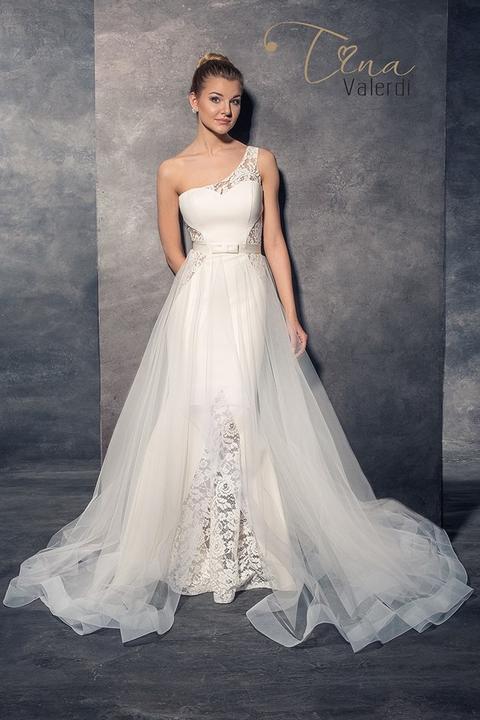40462bec789e Svadobné šaty s jedným ramienkom - Azalea -