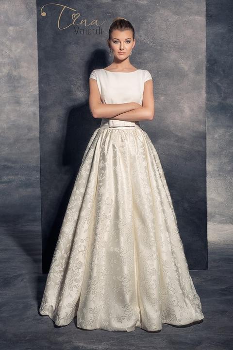 4c66711006ab Svadobné šaty áčkového strihu - Dolores -