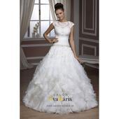 Svadobné šaty s volánmi - real foto - na mieru, 38