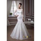 Priliehavé čipkované svadobné šaty - na mieru, 38