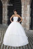 Svadobné šaty s tylovou sukňou - na mieru, 38