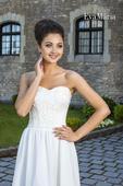 Svadobné šaty s krajkovaným živôtikom - na mieru, 38