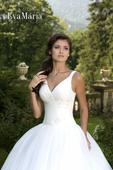Svadobné šaty s čipkovaným živôtikom - na mieru, 38
