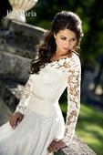 Svadobné šaty s čipkovaným vrškom - na mieru, 40