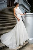Morská panna - svadobné čipkované šaty, 40