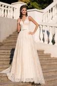 Svadobné šaty z jemnej čipky na mieru, 38