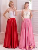 Luxusné spoločenské šaty so saténovou sukňou, 34
